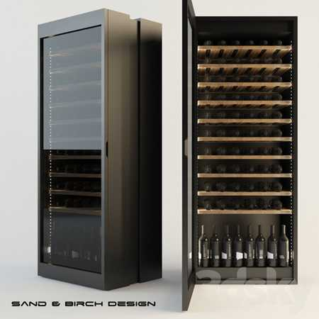 Sand birch HT LUX winecellar