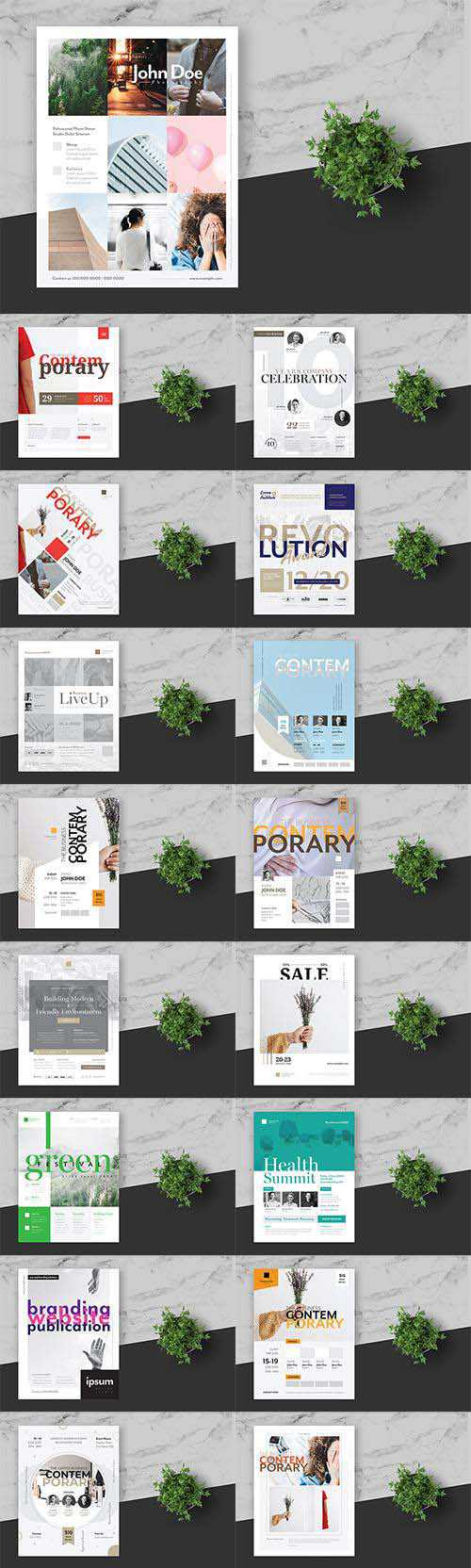 25 Clean and Minimal Business Event Flyer Posters