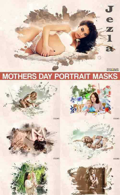 Mothers Day Watercolor Masks Template – 566988