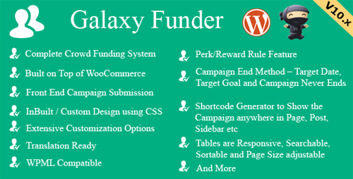 CodeCanyon – Galaxy Funder v10.0 – WooCommerce Crowdfunding System – 7360954