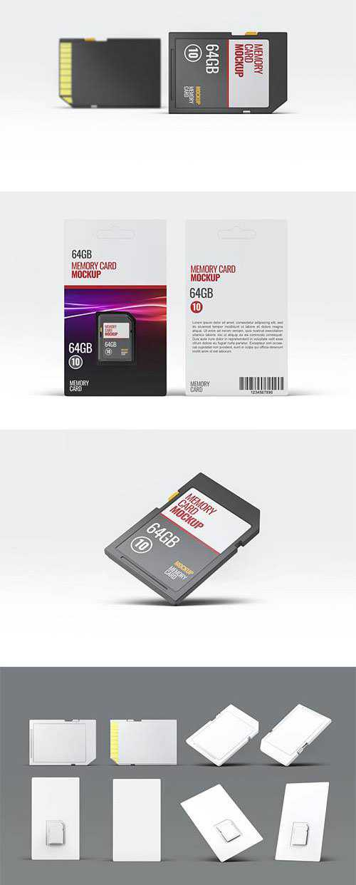 PSD Memory Card Mock-Up