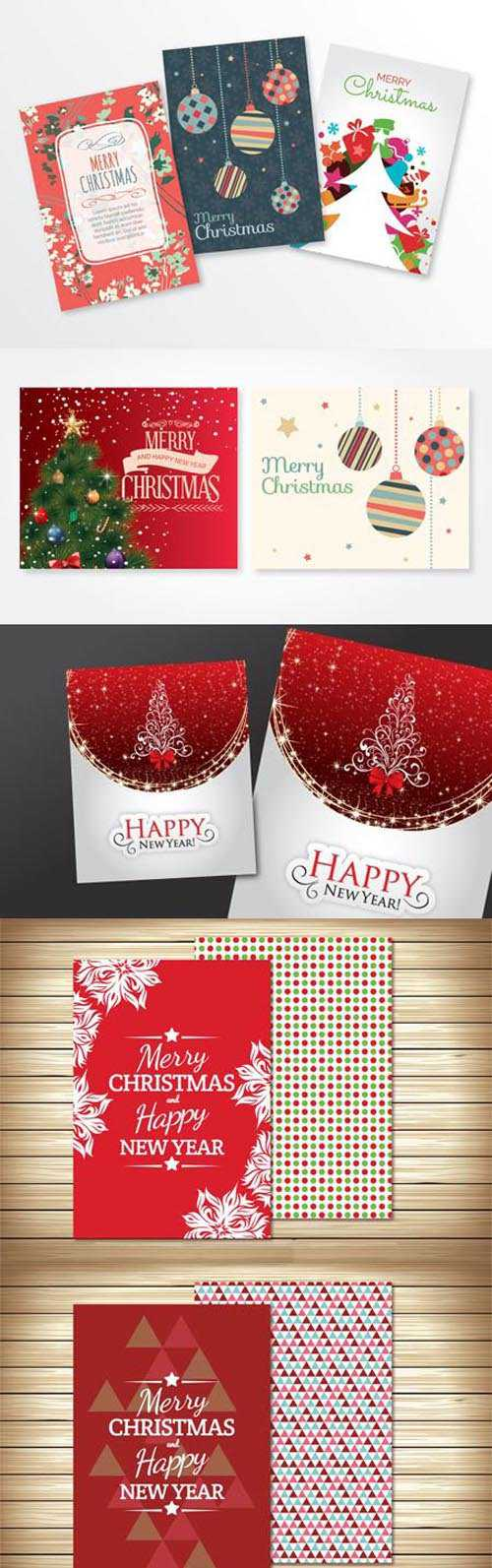 Christmas & Happy New Year! Greeting Cards 5