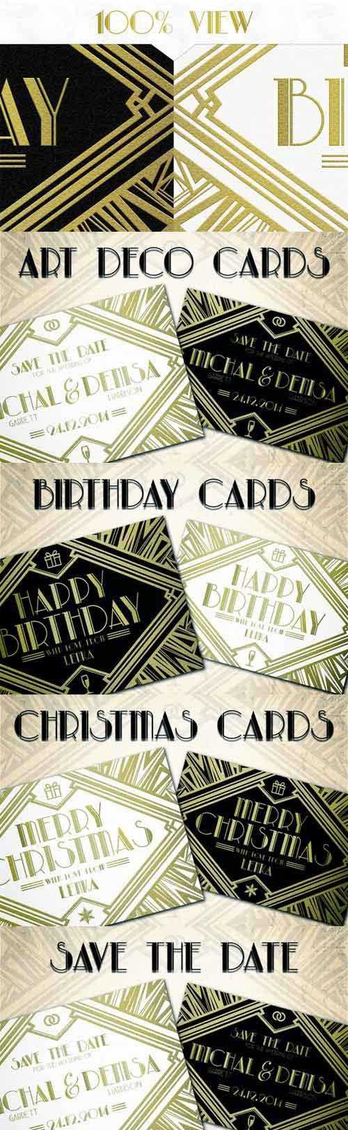 CM - Art Deco Cards 123076