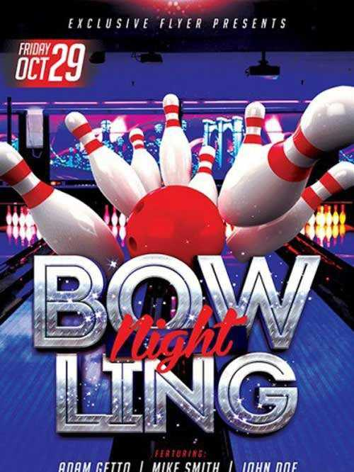 Bowling Premium Flyer Template + Facebook Cover 3