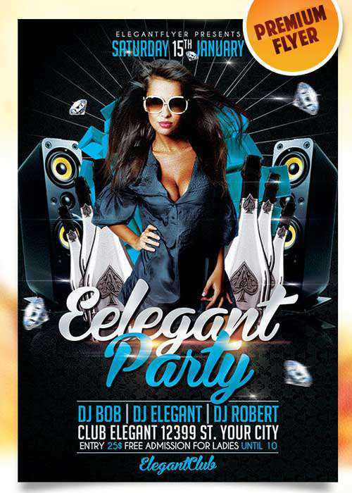 Elegant Party Flyer PSD Template + Facebook Cover