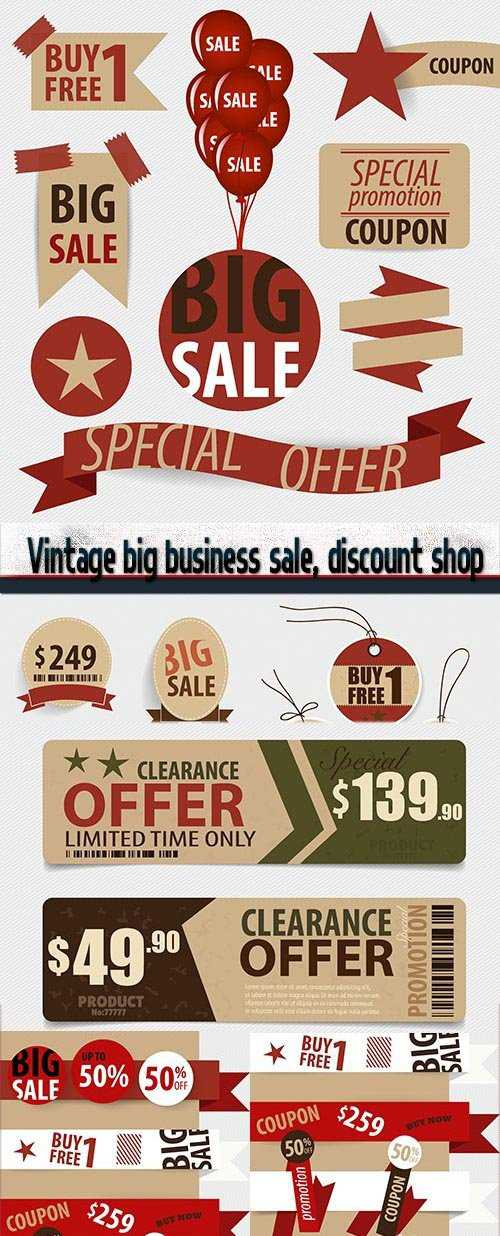 Vintage big business sale, discount shop