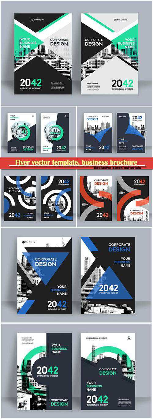 Flyer vector template, business brochure, magazine cover # 15