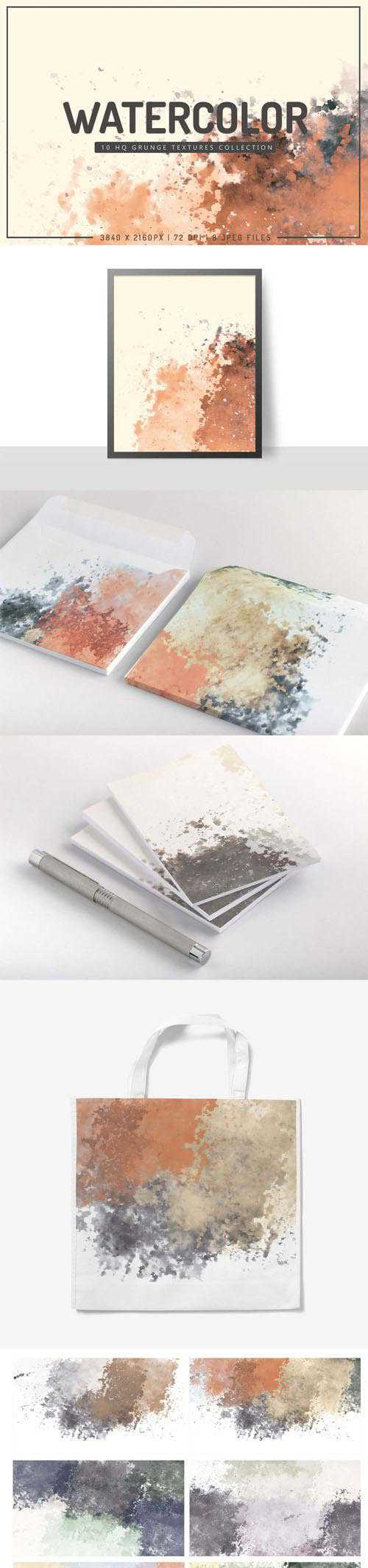 Watercolor – 10 HQ Grunge Textures Collection