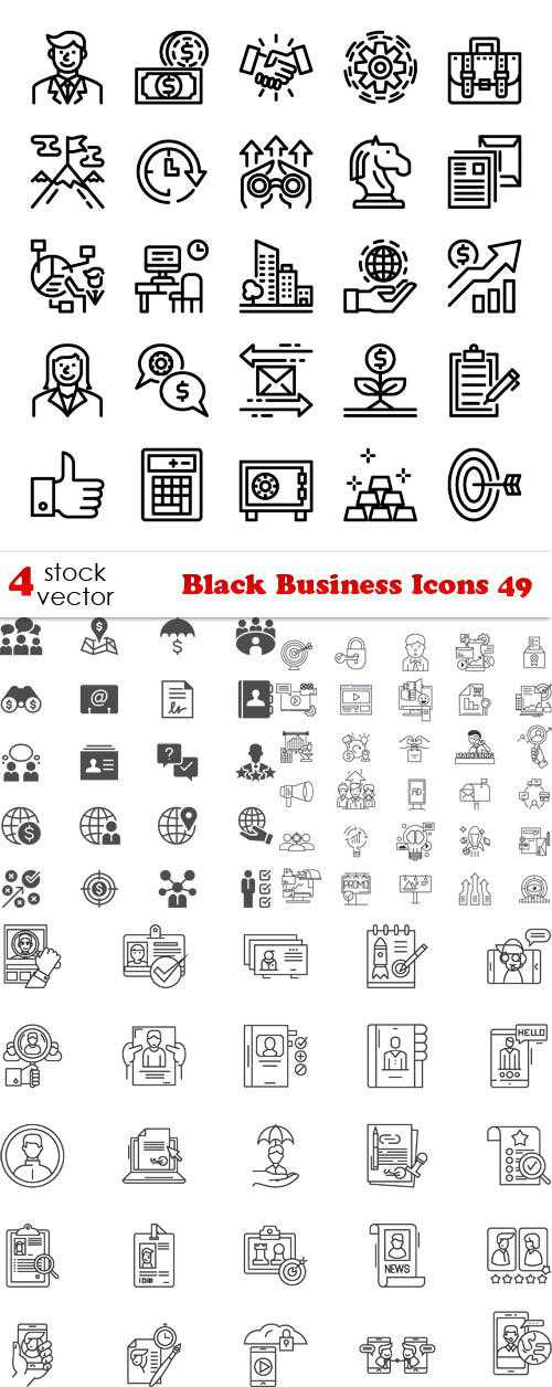 Black Business Icons 49