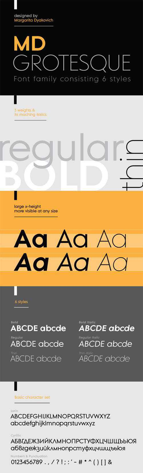 MD Grotesque font family