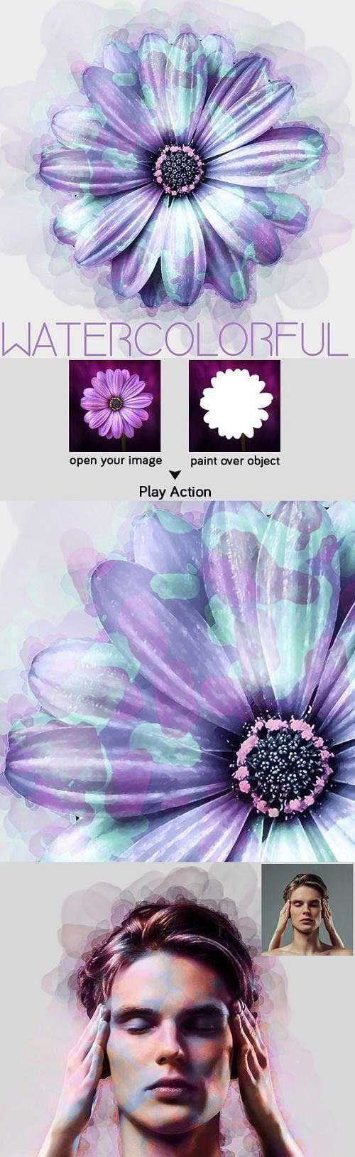 WaterColorful Photoshop Action – 23339204