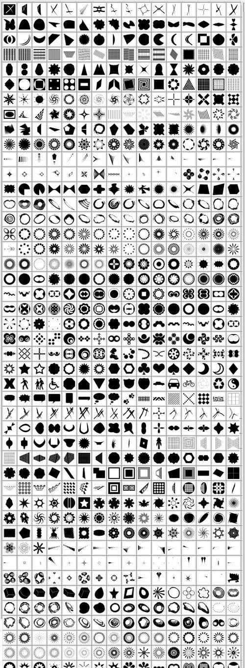 1192 Custom Shapes Huge Collection for Photoshop