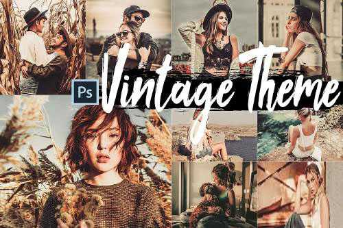 5 Vintage Skin Actions, ACR and LUT presets - 302625