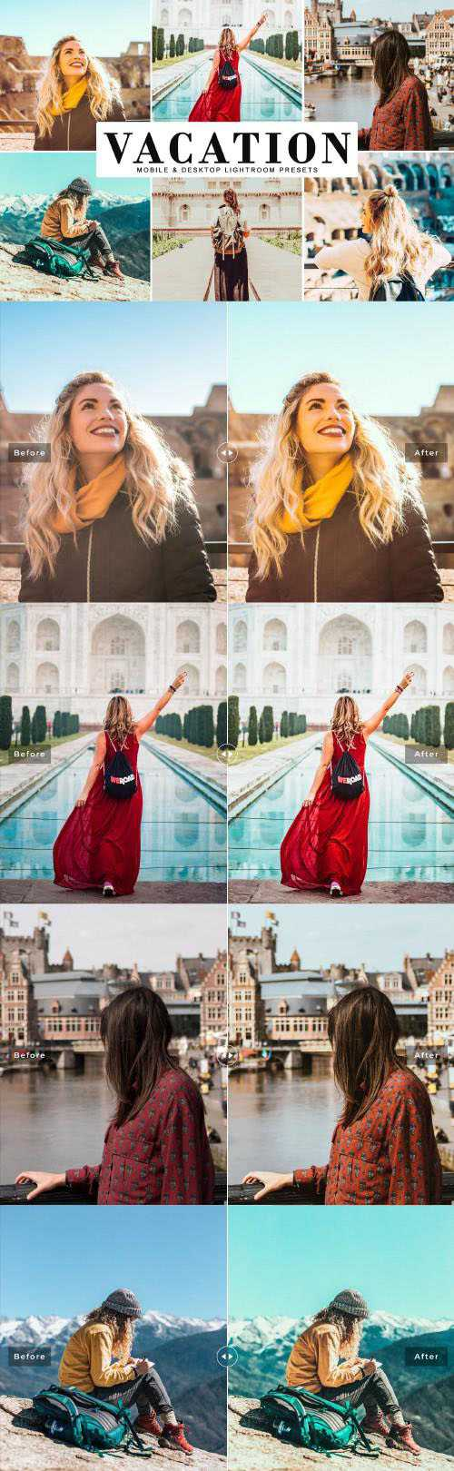 Vacation Lightroom Presets Pack - 3983370 - Mobile & Desktop Lightroom Presets