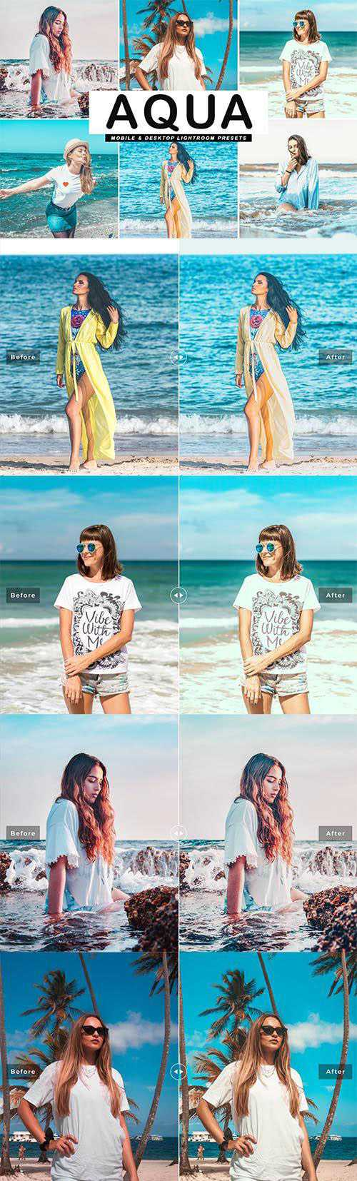 Aqua Mobile & Desktop Lightroom Presets