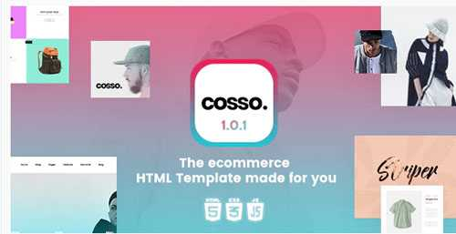 Cosso – Clean, Minimal Responsive HTML Template