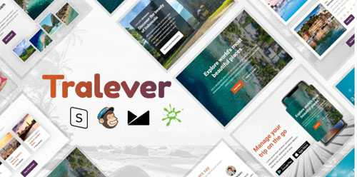 Tralever – Responsive Email Template with MailChimp Editor, StampReady & Online Builder