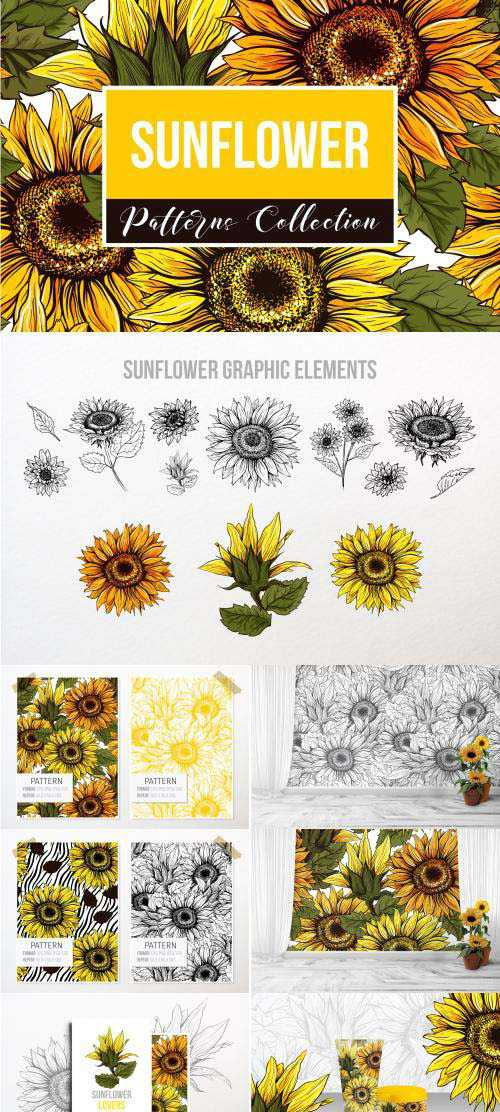 CM – Sunflower Patterns Collection – 3993596