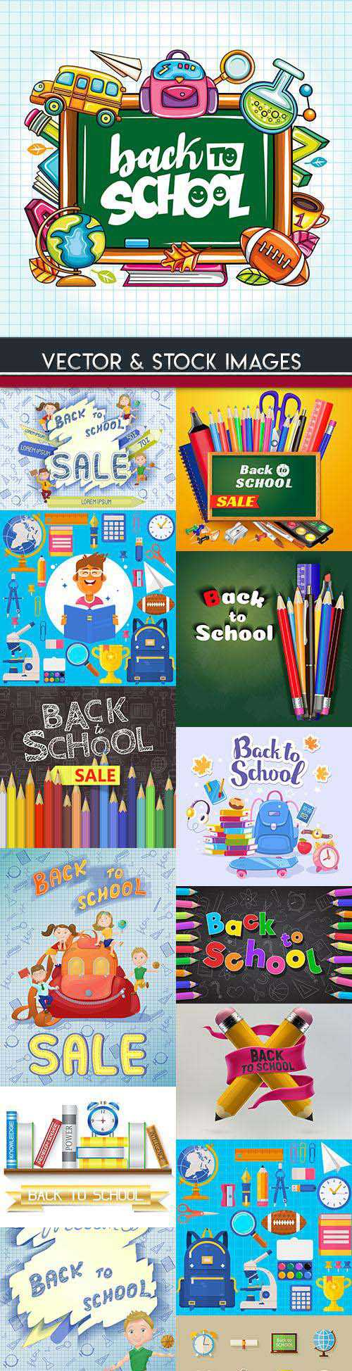 Back to school and accessories collection illustration 26