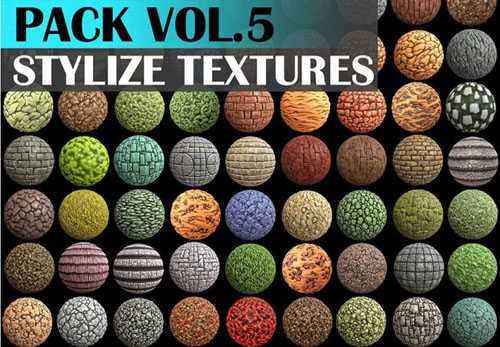 CGTrader - Stylized Texture Pack - VOL 5 Texture