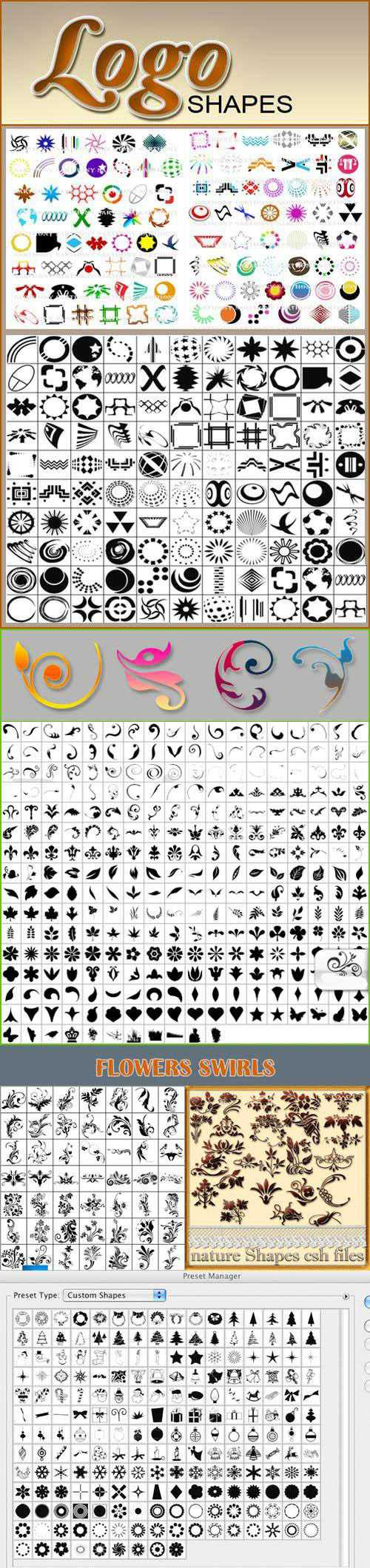 500+ Photoshop Shapes Collections