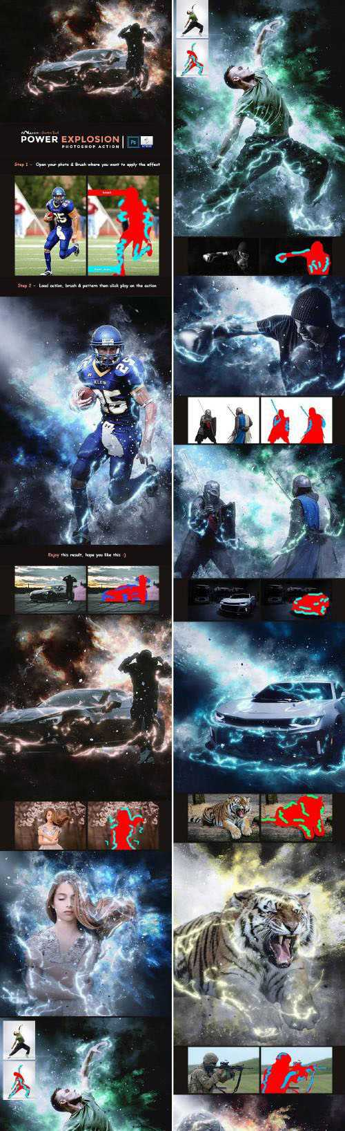 Power Explosion Photoshop Action 24398326