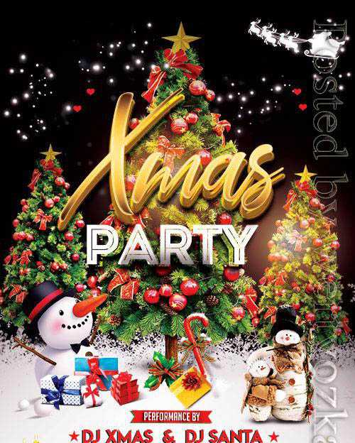 XMas Party Night – Premium flyer psd template