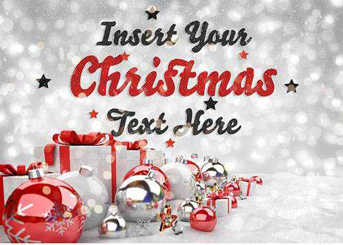 Striped Text Effect with Christmas Scene 304760663 PSDT
