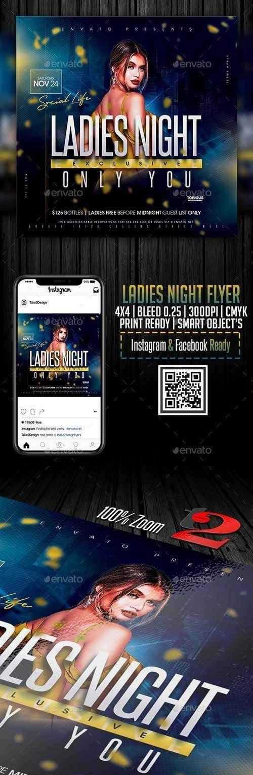 Ladies Night Flyer Template 25843872