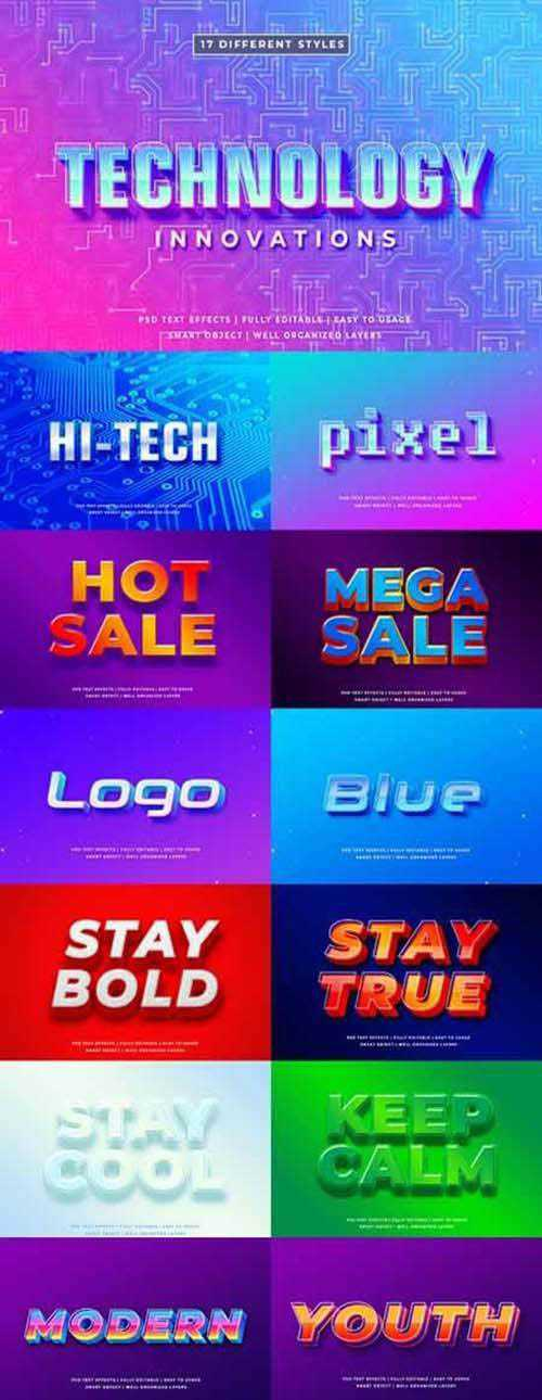 Modern Detailed 3D Text Style Effect mockup 25611215