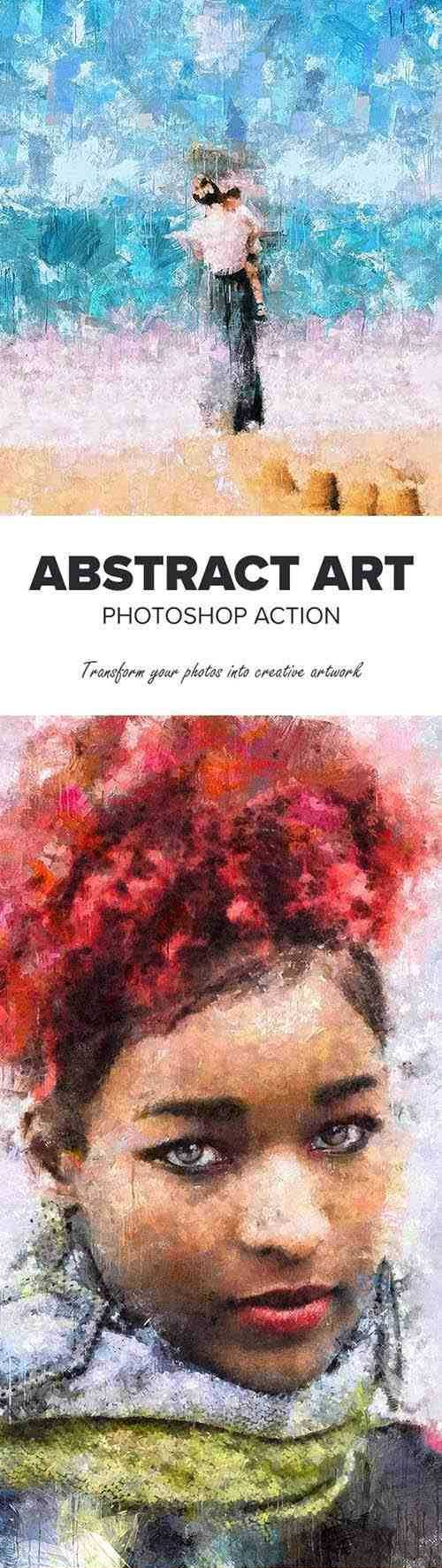 Abstract Art Photoshop Action 25712393