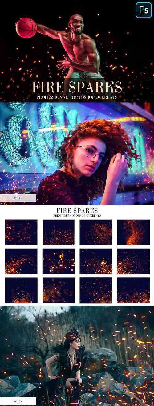Fire Sparks Overlays Photoshop 4936513