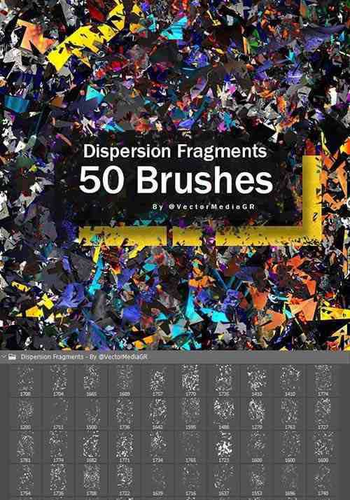Dispersion Fragments – Photoshop Brushes 26556138