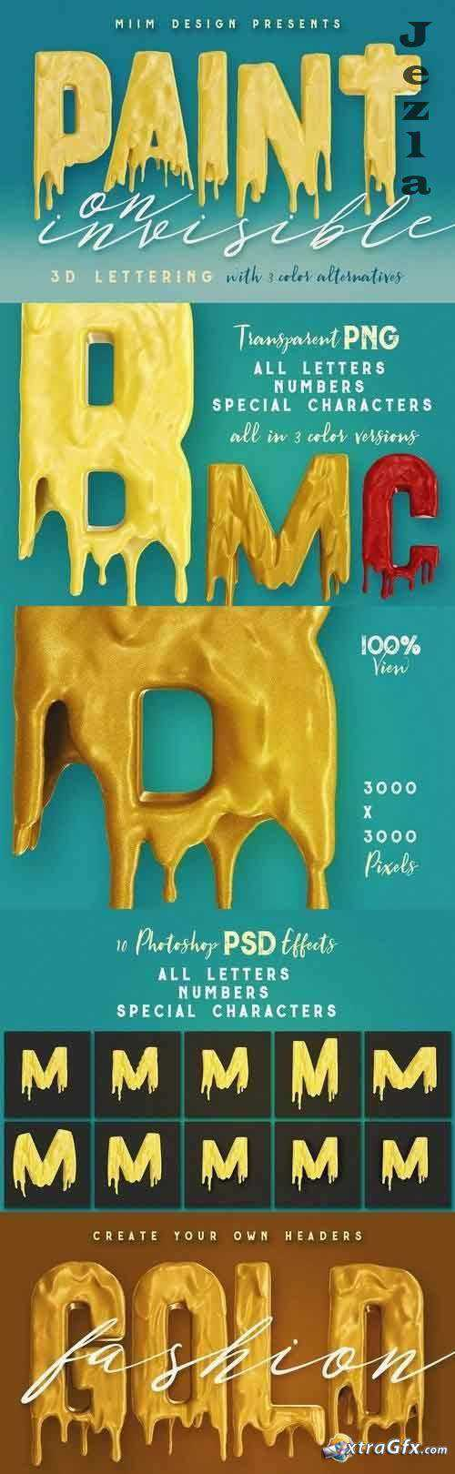 Painting On Invisible – 3D Lettering – 1390696