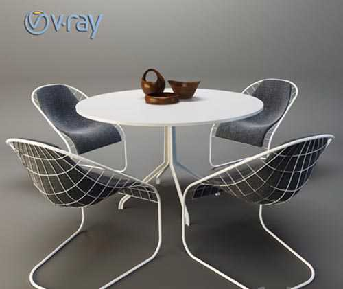 MINOTTI SPACE table with chairs