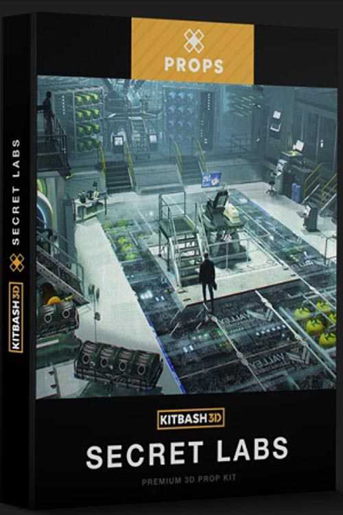 Kitbash 3D – Secret Laboratory