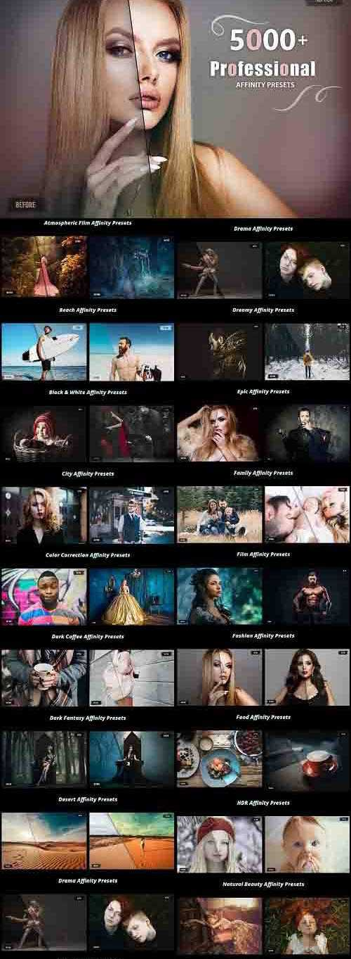 5000+ Professional Affinity Luts – 4970565