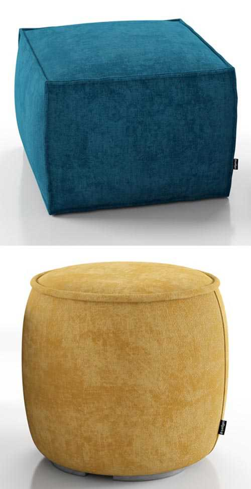 Muffin and Soap ottoman – Calligaris