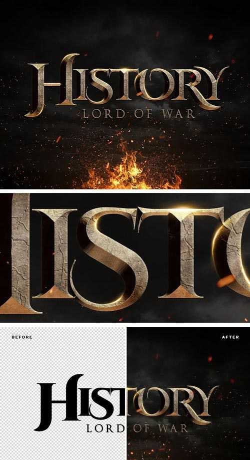 History: Lord of War – Cinematic Text Effect