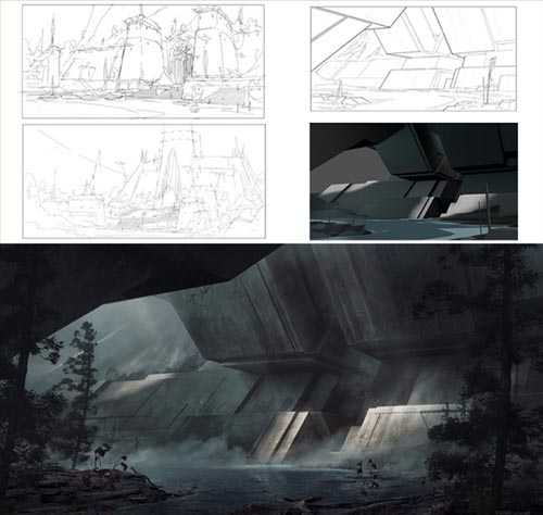 Gumroad – Environment Concept Design Process – From Sketch to Final with Ken Fairclough