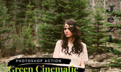 5+ Green Cinematic – Photoshop Action