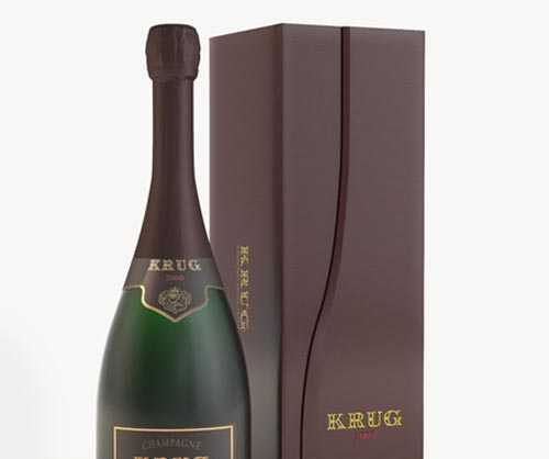 Champagne with box