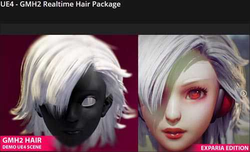 Gumroad – UE4 – GMH2 Realtime Hair Package Demo