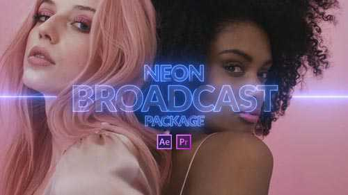 Videohive – Neon Broadcast Package – 24236216