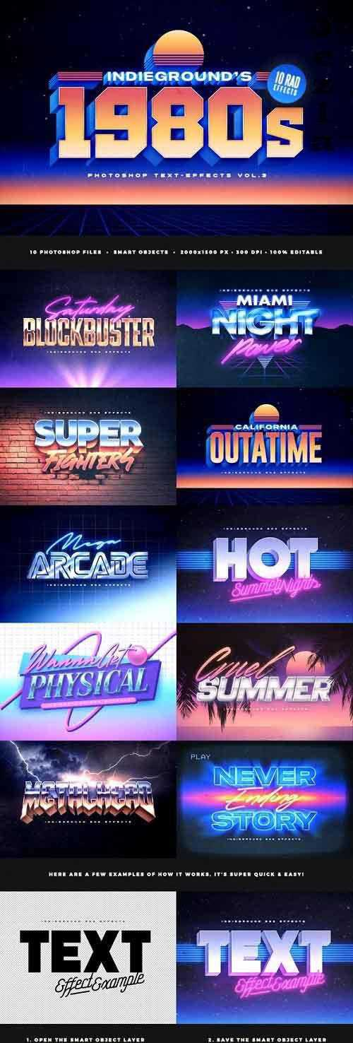 80s Text Effects Vol.3 5353481