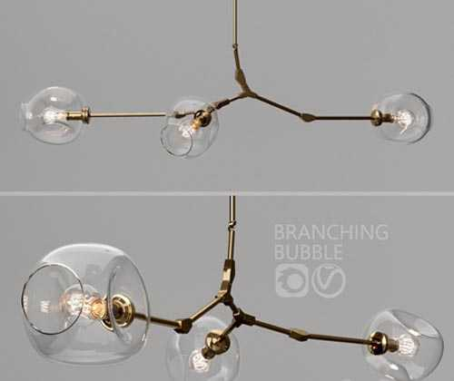 Branching bubble 3 lamps