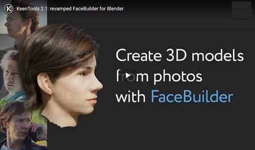 Blender FaceBuilder 2.80+