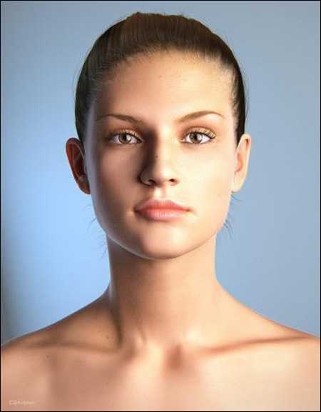 Beautiful 3D Female model