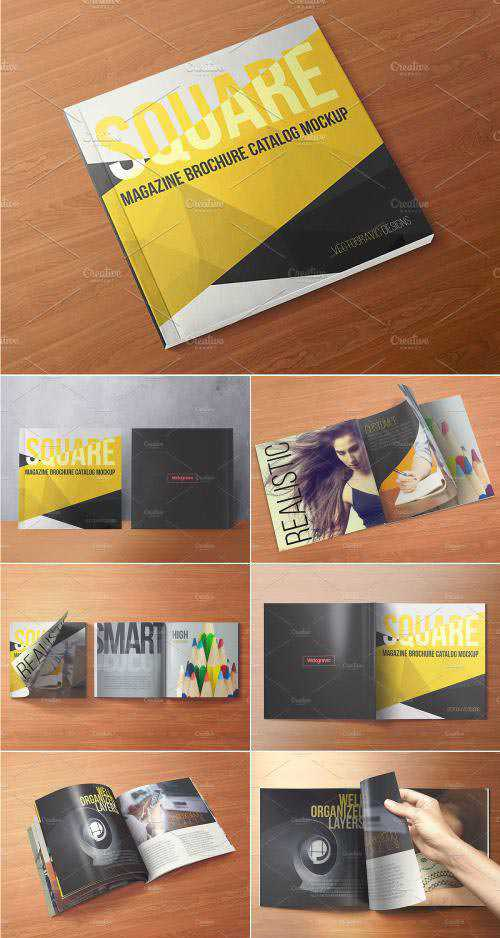 CM – Square Magazine Catalog Mock Ups – 1591141