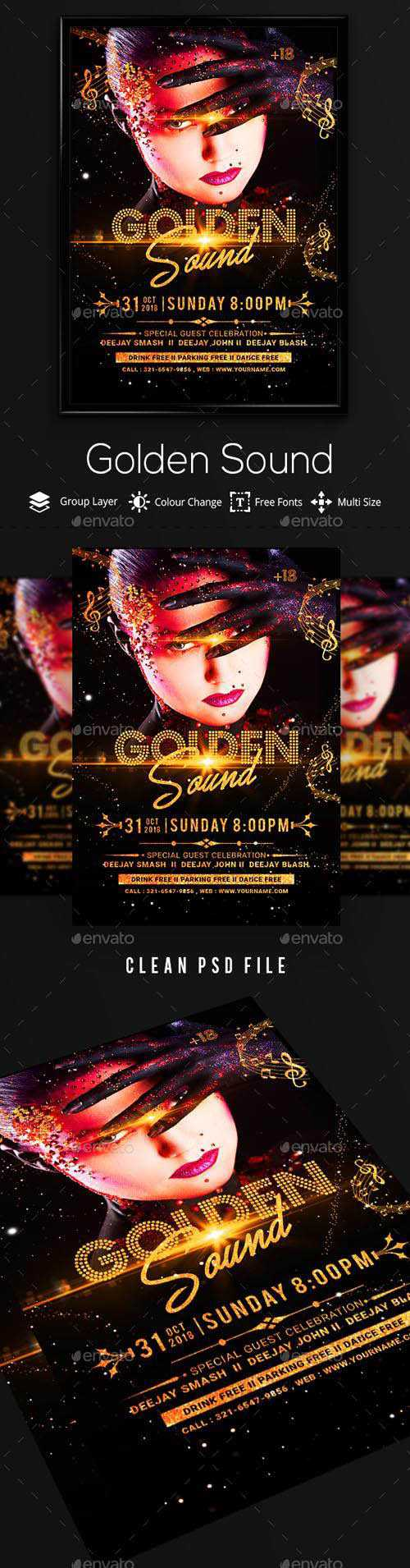 Golden Party Flyer 20735965